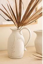 Vaso Decorativo in Ceramica Aledi Bianco Antico