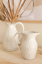 Vaso decorativo in ceramica Samaya Bianco Antico