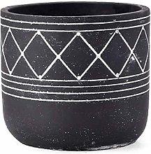 Vaso di fiori Cilindrico Black Garden Vasi di