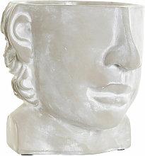 Vaso DKD Home Decor Grigio Cemento (17 x 18 x 15.5