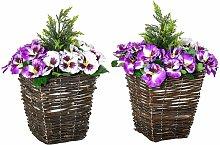 Vaso Fiori Finti di Phalaenopsis Viola e Bianchi