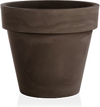 Vaso fioriera in resina STANDARD ONE Ø80 - BRONZO