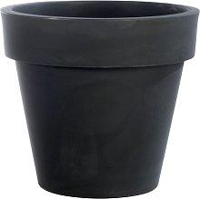 Vaso fioriera in resina STANDARD ONE Ø80 - GRIGIO