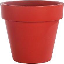 Vaso fioriera in resina STANDARD ONE Ø80 - ROSSO