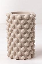 Vaso in cemento Roz Marrone Grano Sklum