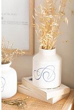 Vaso in ceramica Borg Bianco Sklum