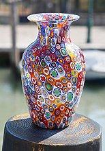 Vaso in Vetro Originale di Murano con Lavorazione