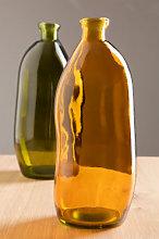 Vaso in vetro riciclato Boyte 35 cm & Giallo Ambra