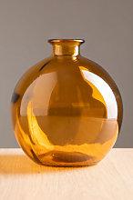 Vaso in vetro riciclato Kimma Giallo Ambra Sklum