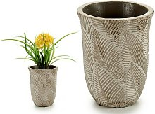 Vaso Marrone Cemento (10 x 13 x 10 cm)