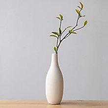 Vaso minimalista in ceramica bianca, vaso di fiori