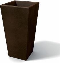 Vaso moderno in resina rettangolare H 105 bronzo
