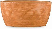 Vaso ovale in resina 'Iris' 36 cm.