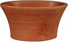Vaso ovale in resina 'Narciso' 65 cm.
