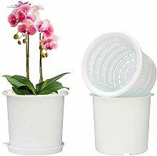 Vaso per orchidea, 16 cm, in plastica, con fori e