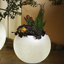 Vaso piante luminoso di qualità, bianco 50