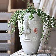 Vaso Piante Succulente,Concreto Fioritrice Testa