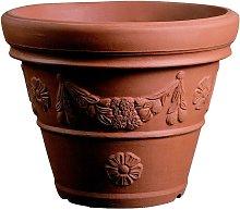 Vaso Resina Conico Festonato cm. 120 Terracotta