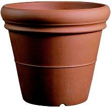 Vaso resina Doppio Bordo Liscio cm. 100 Terracotta