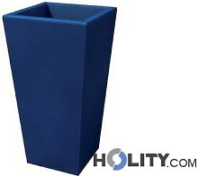 Vaso rettangolare in plastica con opzione luce