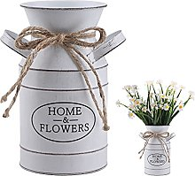 Vaso vintage shabby chic, vasi da fiori in metallo