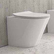 Vaso wc a terra moderno in ceramica sedile
