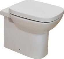 Vaso wc filomuro a terra ceramica Roca Mod. Debba