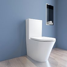 Vaso wc monoblocco filomuro ceramica linee moderno
