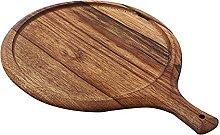 Vassoio per pizza in legno, tondo, tagliere per