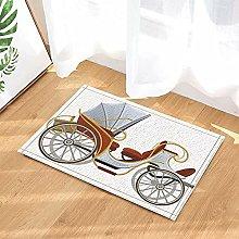 Vecchia carrozza Art Déco Tappeto da bagno