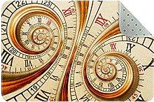 Vecchio orologio orologio, tappetino da cucina