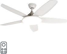 Ventilatore da soffitto bianco con telecomando -