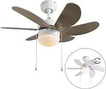 Ventilatore da soffitto bianco - FRESH 3