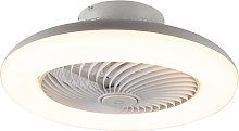 Ventilatore da soffitto bianco LED dimmerabile -