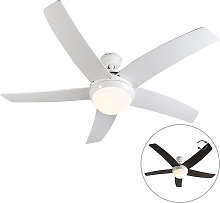 Ventilatore da soffitto bianco telecomando - COOL