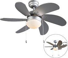 Ventilatore da soffitto grigio - FRESH 3