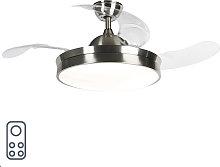 Ventilatore da soffitto in acciaio LED e