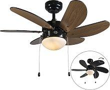 Ventilatore da soffitto nero - FRESH 3
