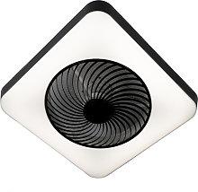 Ventilatore quadrato nero LED dimmerabile - CLIMO