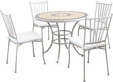 VENTUS - set tavolo da giardino con piano in