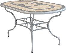 VENTUS - tavolo da giardino in ferro con piano in