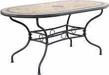 VENTUS - tavolo da giardino ovale in ferro con