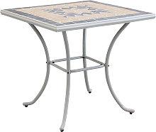 VENTUS - tavolo da giardino quadrato in ferro con