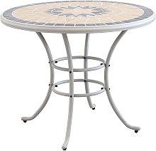 VENTUS - tavolo da giardino rotondo in ferro piano