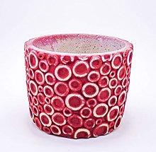 Veramaya Anello Modello Vaso di Cemento 12,5x9.5 Cm