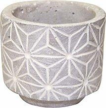 Veramaya Fiore a Motivi di Cemento Sukulent Pot