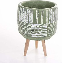 Veramaya Piede Antico Fantasia Verde Vaso di