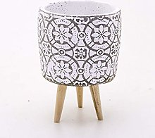 Veramaya Vaso di Cemento Bianco Foot Geometric