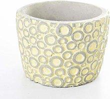 Veramaya Vaso di Fiori di Cemento Giallo con