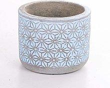 Veramaya Vaso di Fiori sukulent in Cemento Blu